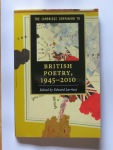 The Cambridge Companion to British Poetry 1945-2010 Edited by Edward Larrissy  Cambridge University Press